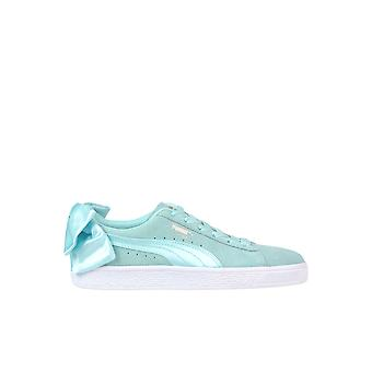Puma Light Blue Leather Sneakers