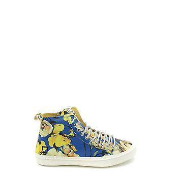 D.a.t.e. Light Blue Leather Hi Top Sneakers