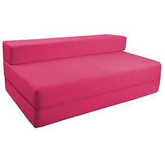 Water Resistant Fold Out Double Z Bed Sofa - Pink