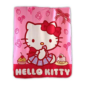Ciao Kitty Girls coperta in pile rosa peluche