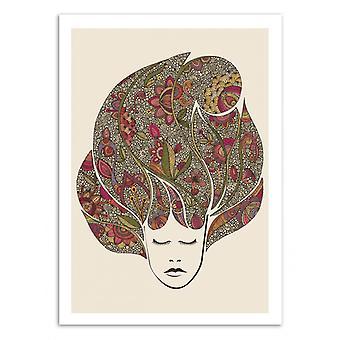 Kunst-Poster - träumende Blumen - Valentina Harper 50 x 70 cm