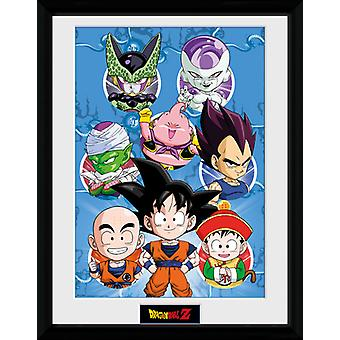 Dragonball Z Chibi tegn indrammet Collector Print 40x30cm