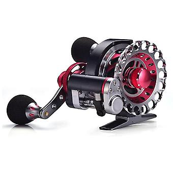 Fly reel automatic wire spread 10+1 bb aluminum alloy left hand ice fishing raft reel