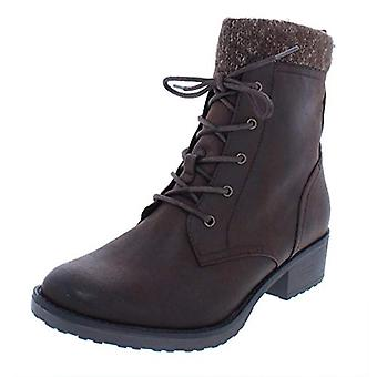 BareTraps Womens Onnabeth Faux Leather Marled Combat Boots