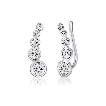 Elli Silver Women's Earrings 925 with White Crystal