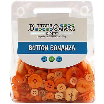 Button Bonanza .5lb Assorted Buttons-Tangerine BB-83