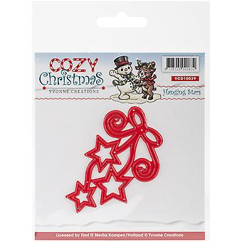 Find It Trading Yvonne Creations Cozy Christmas Die-Hanging Stars YCD10039