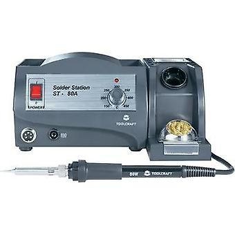 Soldering station analogue 80 W TOOLCRAFT ST-80A +150 up to +450 °C