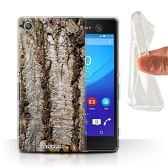 STUFF4 Gel/TPU Case/Cover for Sony Xperia M5/Aged/Tree Bark