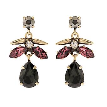 Martine Wester Cosmic Burgundy Crystal Drop Earrings