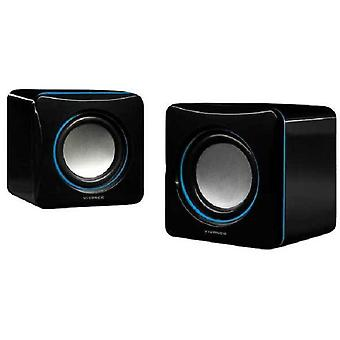 Vivanco compact stereo speaker black blue