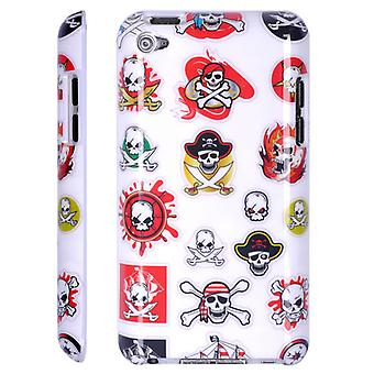 Cover with plastic skulls hard-iPod touch 4