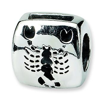 Sterling Silver Polished Reflections Scorpio Zodiac Antiqued Bead Charm