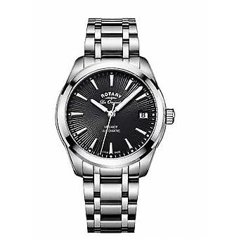 Rotary Womans Stainless Steel Strap Black Dial LB90165/04 Watch