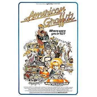 American Graffiti 1973 film affisch Masterprint