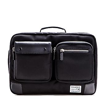 Venque Briefcase letter Pack XL Messenger business Bag Black Black