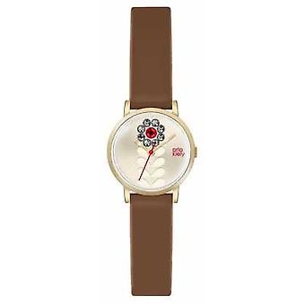 Orla Kiely Womans Tan Leather Champagne Flower Dial OK2094 Watch