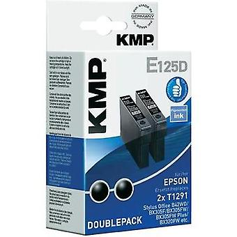 KMP Ink replaced Epson T1291 Compatible Pack of 2 Black E125D (2 x 11.2 ml) 1617,0021