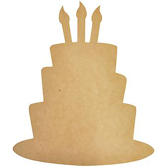 Beyond The Page MDF Funky Cake Wall Art-16.5