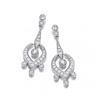 Cavendish French Silver and CZ Georgian Earrings