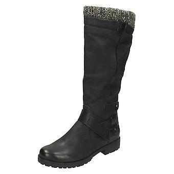 Ladies flekk på Casual lang støvler F50329