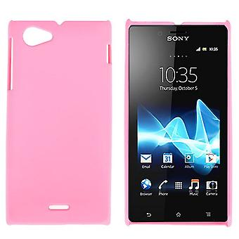 Plastic cover for Sony Xperia J ST26i (Pink)