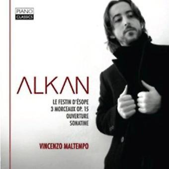 C. Alkan - Alkan: Le banket D' Vaskemaskinerne; 3 Morceaux Op. 15; Ouverture; Sonatine [CD] USA importerer