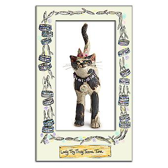 Royal Furmily Pawtraits Lady Tiny Tinsy Teena Tuna Cat Single Tea Towel