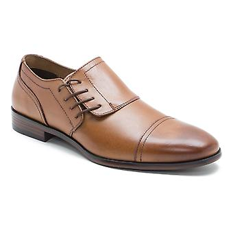 Red Tape Marbury Mens Tan Leather Side Lace Formal Shoes