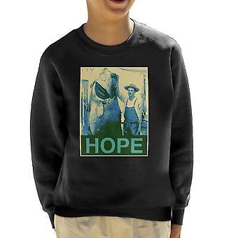 Hope Fishing Shepherd Fairey Style Big Fish Kid's Sweatshirt