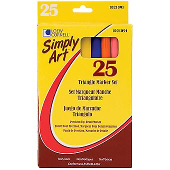 Simply Art Triangle Markers 25/Pkg-Assorted Colors S1021091