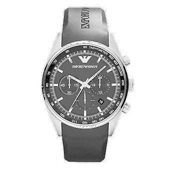 Emporio Armani AR5977 Black Rubber Strap Black Stainless Steel Dial Sportivo Watch