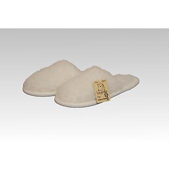 Slipper wool ecru 36/37