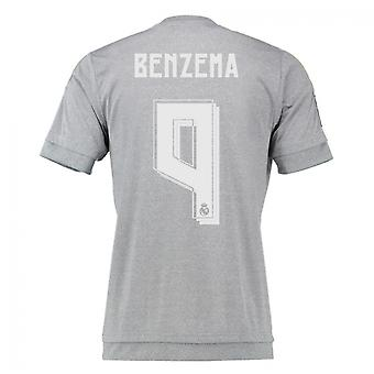 2015-16 Real Madrid Away Shirt (Benzema 9) - Kids