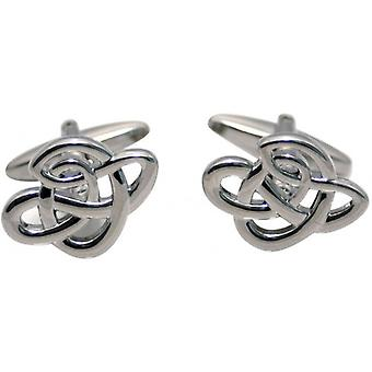 Zennor Celtic Design Cufflinks - Silver