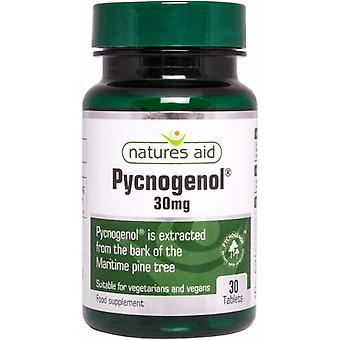 Natures Aid Pycnogenol Maritime Bark Extract 30mg, 30 Tablets. Suitable for Vegans.