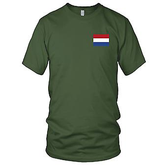 Holland land nationale Flag - broderet Logo - 100% bomuld T-Shirt Herre T-shirt