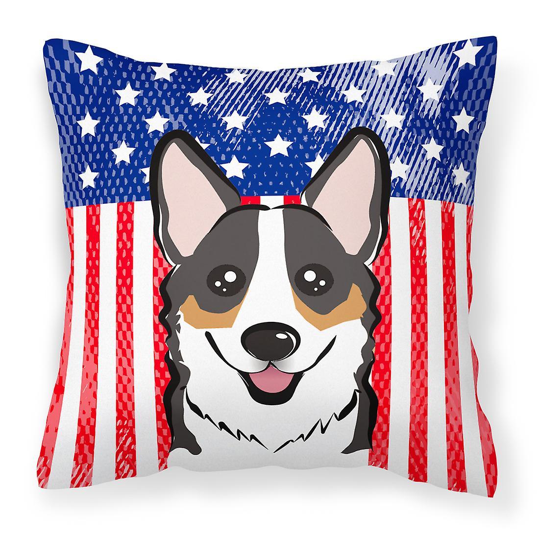 Oreiller Corgi Décoratif Tricolore Flag Tissu American Et m8nON0wv