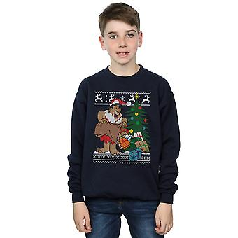 The Flintstones Boys Christmas Fair Isle Sweatshirt