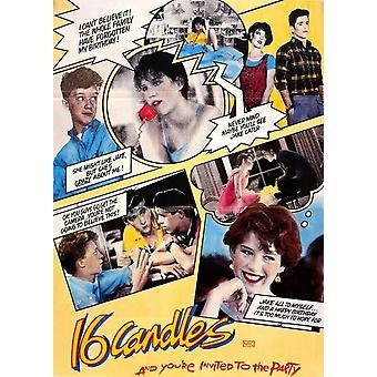Sixteen Candles - 80s kult film affisch affisch Skriv