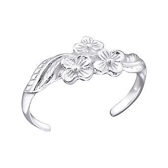 Blumen - 925 Sterling Silber Zehenringe