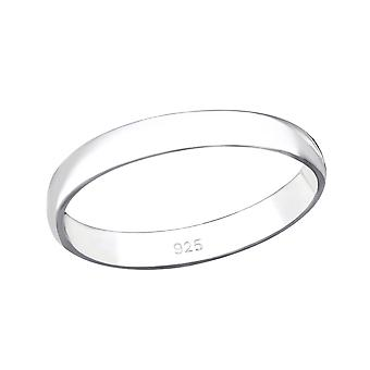 3mm Band - 925 Sterling Silver Plain Rings - W34073x