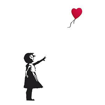 Воздушный шар девушка плакат печати Bansky (24 x 36)