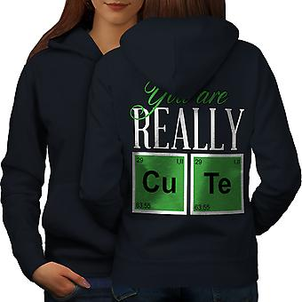 Cute Chemistry Geek Women NavyHoodie Back | Wellcoda
