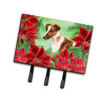 Smooth Fox Terrier Poinsettas Leash or Key Holder
