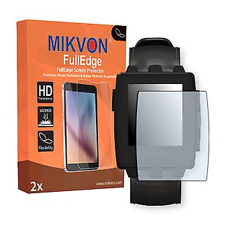 Pebble Steel screen protector - Mikvon FullEdge (screen protector with full protection and custom fit for the curved display)