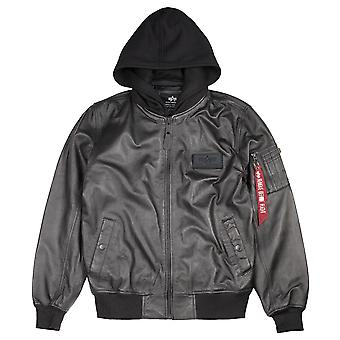 Alpha industries Ma-1 giacca D-TEC in pelle LW