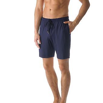 Mey 65650-668 mannen Jefferson blauwe effen kleur Pajama Pyjama korte