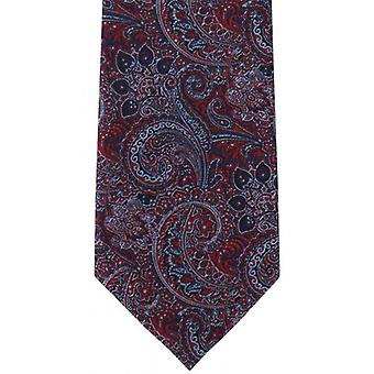 Michelsons of London Elaborate Paisley Polyester Tie - Red