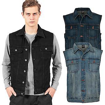 Urban classics - DENIM jeans väst